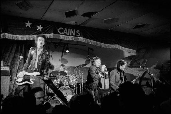 The Sex Pistols, live at Cain's Ballroom Tulsa US tour, Original Photo: Lynn Goldsmith, 1978