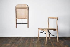 The HUP HUP is a folding chair with the form and experience of a traditional timber chair, designed by Tom Skeehan